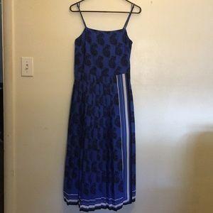 Banana Republic Pleated Skirt Dress w/Slit size 0